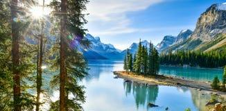 Spirit Island in Maligne Lake,Canada. Spirit Island in Maligne Lake, Jasper National Park, Alberta, Canada Stock Photos
