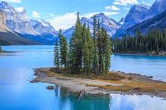 Spirit Island in Maligne Lake Royalty Free Stock Photos