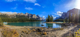 Spirit Island at Maligne Lake. Jasper National Park, Alberta, Canada Royalty Free Stock Photography