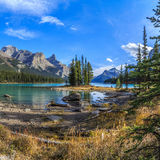 Spirit Island at Maligne Lake Stock Photo
