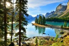 Spirit Island in Maligne Lake,Canada. Spirit Island in Maligne Lake, Jasper National Park, Alberta, Canada Royalty Free Stock Image