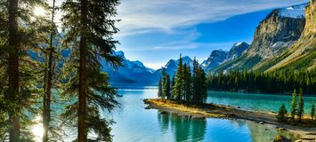Spirit Island in Maligne Lake,Canada. Spirit Island in Maligne Lake, Jasper National Park, Alberta, Canada Royalty Free Stock Images