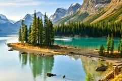 Spirit Island in Maligne Lake,Canada. Spirit Island in Maligne Lake, Jasper National Park, Alberta, Canada Stock Photography
