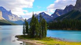 Spirit Island, Maligne Lake, Rocky Mountains, Canada Royalty Free Stock Image