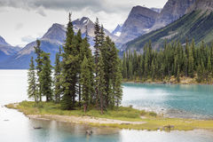 Spirit island on Maligne lake. In Canada Royalty Free Stock Images