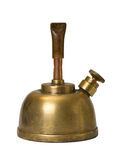 Spirit lamp. Old copper spirit lamp, isolated on white background stock photos