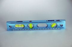 Spirit level. A good spirit level in aluminium with different possible angles stock image