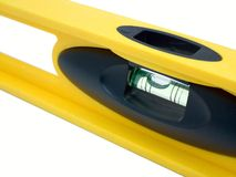 Spirit Level. Yellow spirit level for construction Royalty Free Stock Photos
