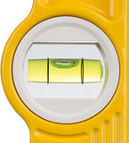 Spirit level. Detail of a spirit level against a white background Royalty Free Stock Image