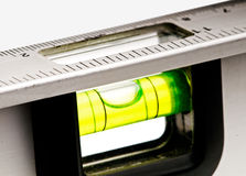 Spirit level. Close up of a aligned spirit level Royalty Free Stock Images