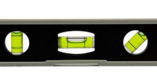 Spirit level. A spirit level in close up Stock Photography