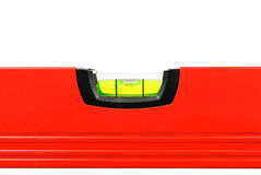 Spirit Level Close Up on White Stock Photo