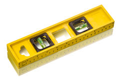 Spirit level isolated on white Royalty Free Stock Photography