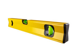 Spirit level isolated on white Clipping Paths. Yellow spirit level isolated on white  with Clipping Paths Royalty Free Stock Photo