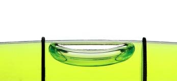 Spirit level tube , extreme macro image Royalty Free Stock Photos