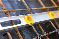 Spirit level using or home construction Stock Image