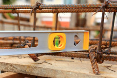 Spirit level using or home construction Royalty Free Stock Image