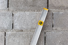 Spirit level using for home construction Stock Photo