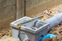 Spirit level using for home construction Stock Image