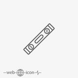 Spirit level vector icon Stock Images