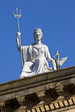 Spirit of Liverpool Statue on the Walker Art Gallery Building Royalty Free Stock Photography