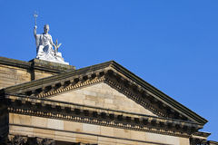 Spirit of Liverpool Statue on the Walker Art Gallery Building royalty free stock images