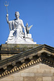 Spirit of Liverpool Statue on the Walker Art Gallery Building Royalty Free Stock Image