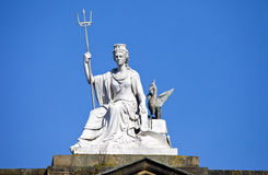 Spirit of Liverpool Statue on the Walker Art Gallery Building Stock Image