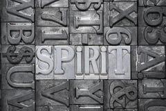 Spirit metallic word Royalty Free Stock Photo