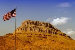 Spirit Mountain and Joshua Trees. Grand Canyon, Arizona royalty free stock image