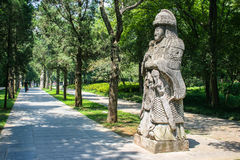The spirit path of Ming Emperors'Mausoleum Royalty Free Stock Photos