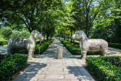 The spirit path of Ming Emperors'Mausoleum Royalty Free Stock Photography