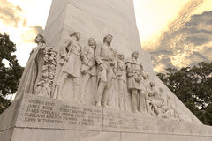 The Spirit of Sacrifice Cenotaph - Alamo Monument Stock Photo