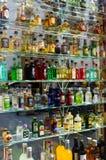Miniature bottles Stock Image