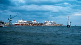 Melbourne, Australia - Mar 23, 2019: Cruise ships docked at Station Pier in Port Melbourne royalty free stock photos