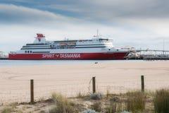 Spirit of Tasmania I at Port Melbourne Australia Stock Image