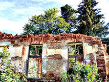 Spirit of the time. The tumbledown building - South Serbia Stock Image