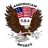Spirit Of USA Emblem Royalty Free Stock Photography