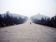 Spirit Way of Qianling Mausoleum, Xian, China. Spirit Way of Qianling Mausoleum - Mausoleum of Emperor Gaozong and Wu Zetian in Tang dynasty, Xian, China stock photography