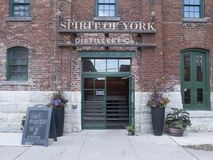 Spirit of York distillery in Distillery District, Toronto. The Distillery District is a commercial and residential district in Toronto, Ontario, Canada. Located stock photos