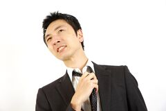 Spiritless businessman Royalty Free Stock Photo