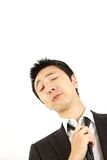 Spiritless businessman Stock Photo
