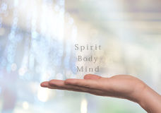 Spirito, corpo e mente, Fotografie Stock