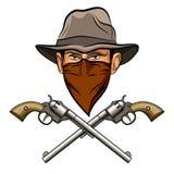 Spirito del bandito pistole Immagini Stock