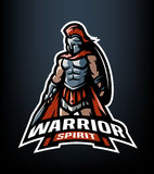 Spirito del guerriero Il logo di Roman Warrior royalty illustrazione gratis