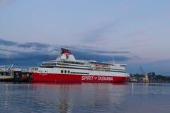 Spirito della Tasmania I Devonport messo in bacino traghetto immagini stock libere da diritti