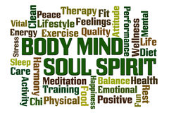 Spirito di anima di mente del corpo Fotografia Stock Libera da Diritti
