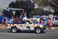 Spirito di carnevale nel Sudafrica soleggiato Fotografia Stock Libera da Diritti