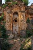 Spirito di guardiano sullo stupa antico Fotografia Stock