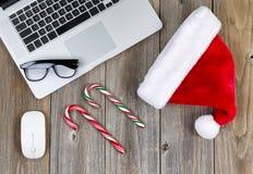 Spirito di Natale ad area di lavoro Fotografia Stock